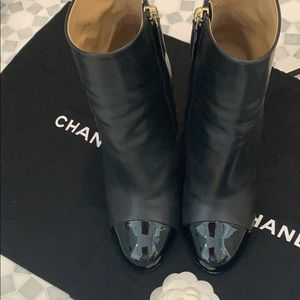 Black beautiful Chanel booties